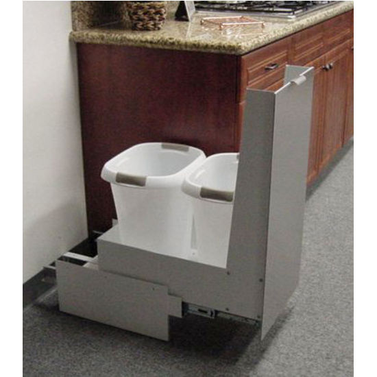 Famous Trash Cans - Trash or Recycling Cabinet with Trash Cans by  TI64
