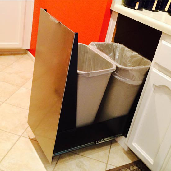 Trash Cans - Trash or Recycling Cabinet with Trash Cans by ...