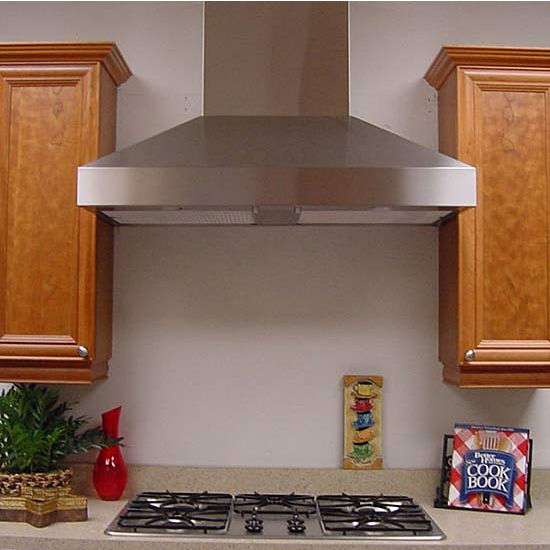 "Imperial WHP1900 Wall Mount Chimney Range Hood by Imperial, 720-1425 CFM with 8"" Duct Booster,  Stainless Steel"