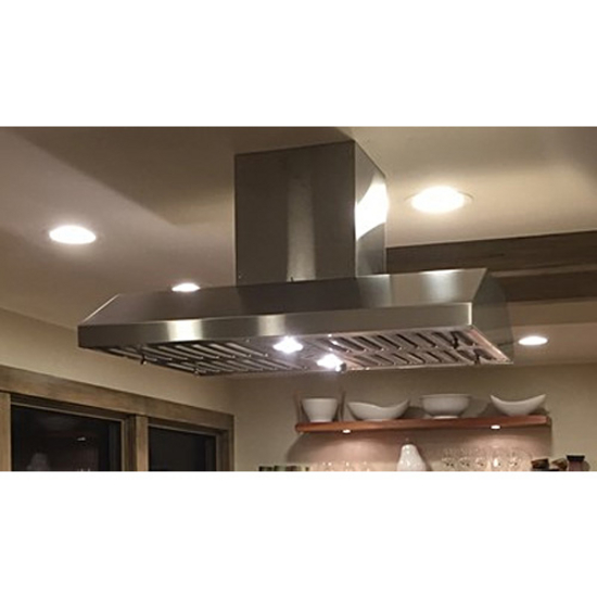 Imperial Slim Line Island Range Hood with Air Ring Fan, 385 CFM