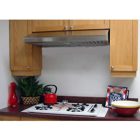 Imperial Step Slope Under Cabinet Mount Range Hood with Slim Baffle Filters, 360 - 735 CFM