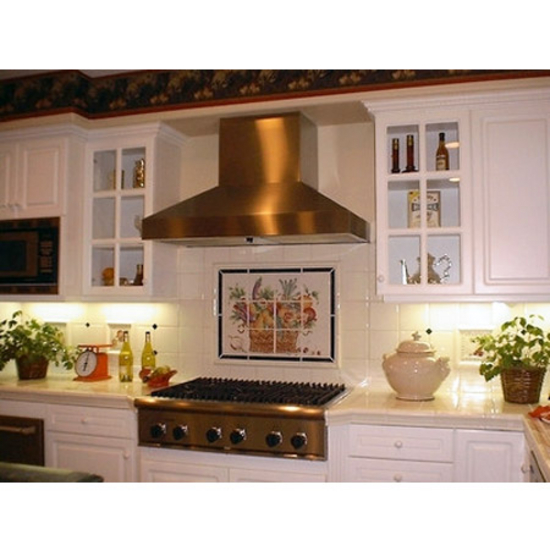 "Imperial WHP1900 Series Wall Pyramid Range Hood with Slim Baffle Filters, 8"" Duct"