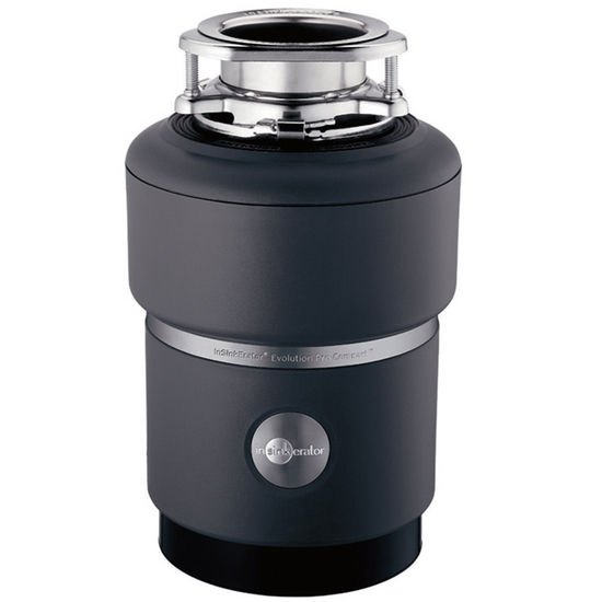 "InSinkErator Evolution Compact 3/4 HP Garbage Disposer, 8"" L x 8"" W x 12-1/7"" H"