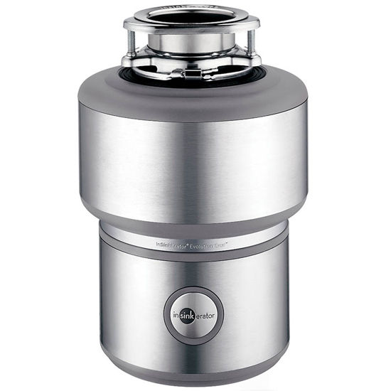 "InSinkErator Evolution Excel 1 HP Garbage Disposer in Stainless Steel, 6"" L x 6"" W x 13-1/2"" H"