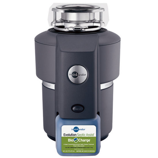 "InSinkErator Evolution Septic Assist 3/4 HP Garbage Disposer, 13"" L x 13"" W x 12-5/8"" H"