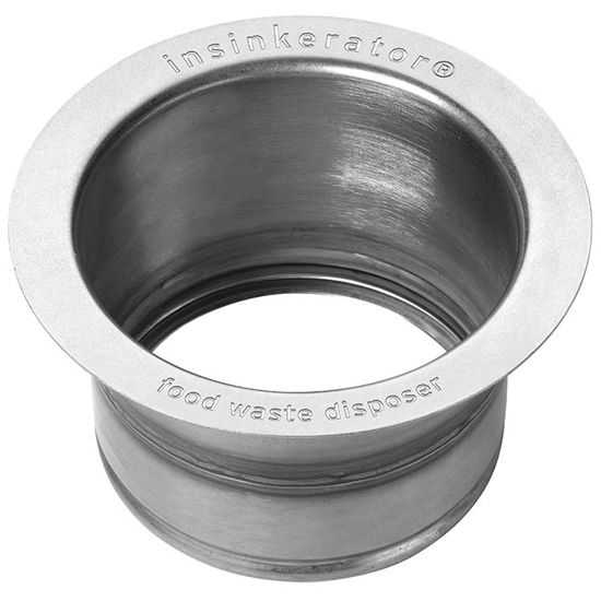 "InSinkErator Extended Steel Garbage Disposer Flange in Polished Stainless Steel , 4-1/2"" L x 4-1/2"" W x 2-1/2"" H"