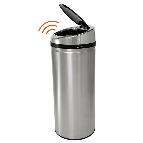 Trash Cans Trash Cans 13 Gallon Round Stainless Steel