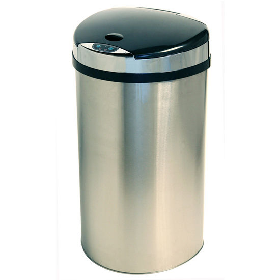 iTouchless - 13 Gal. Semi Round Trash Can