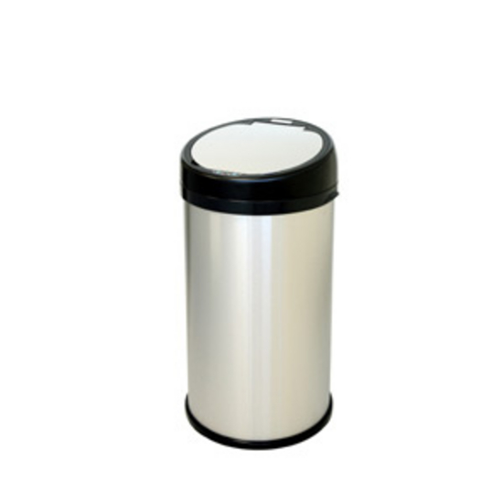 "iTouchless 13 Gallon Sensor Touchless Trash Can, Stainless Steel with Round Extra-Wide Opening, 14.13""W x 14.75""D x 27.25""H"