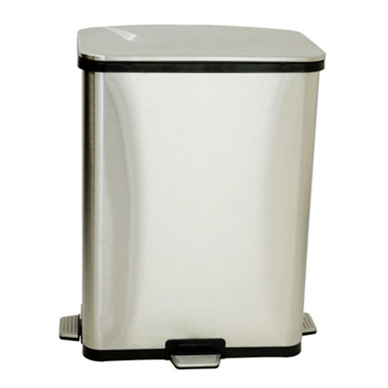 iTouchless 13 Gallon Fingerprint-Proof Stainless Steel Step-Sensor Trash Can