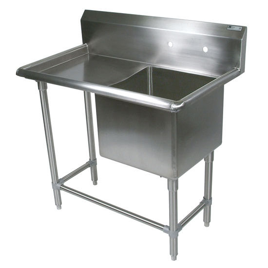 John Boos Pro Bowl NSF Sink, with Left Drainboard, 14 or 16 Gauge, One Bowl