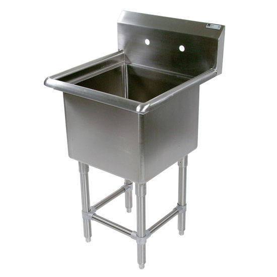 John Boos Pro Bowl NSF Sink, without Drainboard, 14 or 16 Gauge, One Bowl
