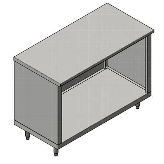 John Boos 16-Gauge Commerical Modular Base Flat Top Work Table