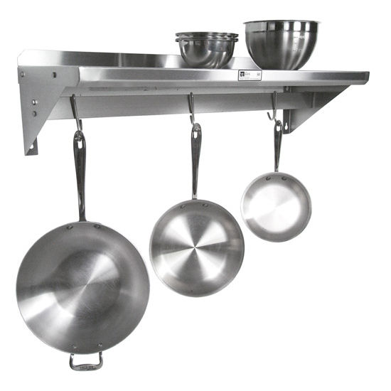 John Boos Commercial Grade Stainless Steel Pot Rack; 14-, 16- or 18-Gauge Stainless Steel