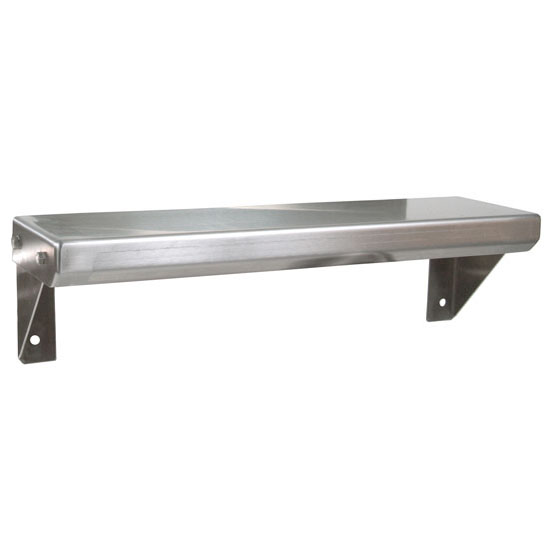 John Boos BHS Series Wall Mounted Spice Shelf in Multiple Sizes Flat Top, 14-Gauge Stainless Steel