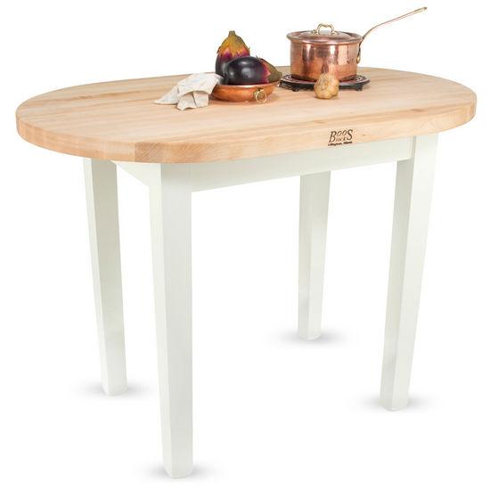 John Boos Elliptical C-Table Kitchen Islands