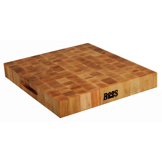 John Boos Chopping Block Collection Reversible 18'' x 18'' x 2-1/4'' with Grips, Maple End Grain