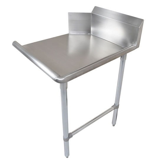 """John Boos Pro Bowl """"Clean Straight Dishtable"""" for Left or Right Side with Stainless Steel Legs & Stainless Steel Top"""