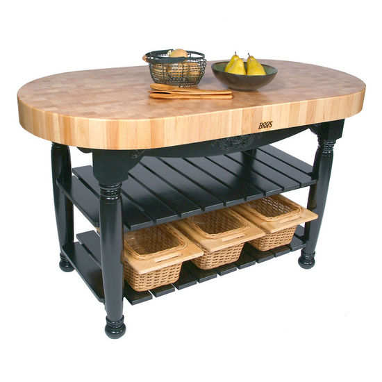 Maple Harvest Table with 3 Wicker Baskets by John Boo