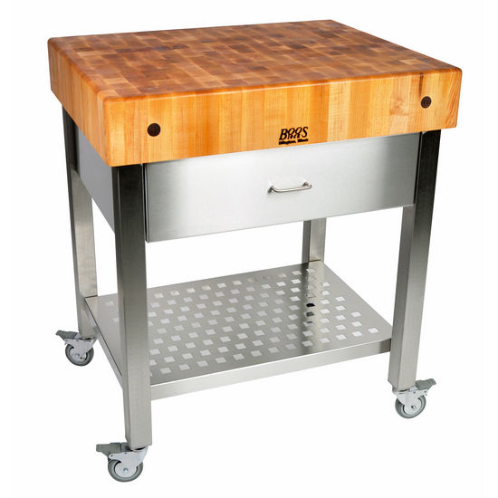 John boos cucina collection d 39 amico kitchen cart with stainless steel drawer aprons 24 39 39 w x - D amico cucina ...