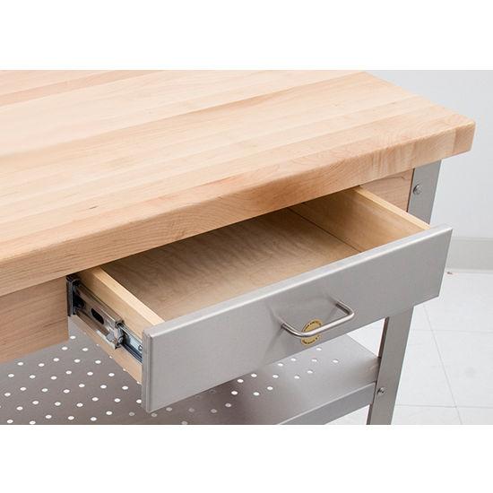 John Boos Maple And Stainless Cucina Elegante Kitchen Cart
