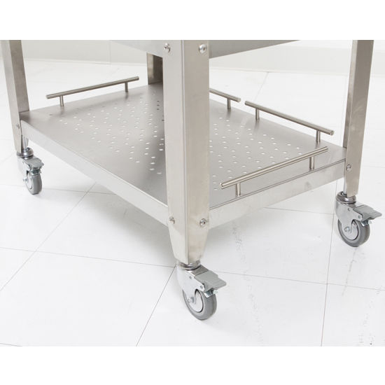 John Boos Maple And Stainless Cucina Elegante Kitchen Cart: Walnut Cucina Elegante Kitchen Cart With 1-1/2'' Thick
