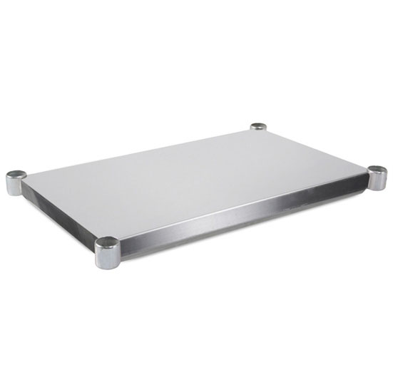 John Boos ESSK Series Economy Additional 18-Gauge Stainless Steel Ajustable Lower Shelf in Multiple Sizes