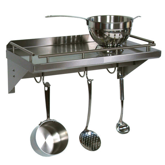 JB-GRWS - Cucina Mensola Grande w/Pot Rack & Hooks