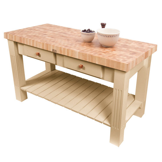 Grazzi Kitchen Island With Butcher Block End Grain Maple Top By John Boos