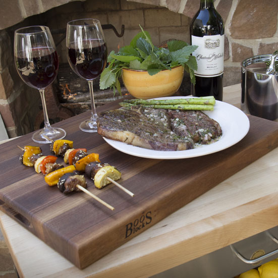 John Boos Reversible Walnut Wood Cutting Boards