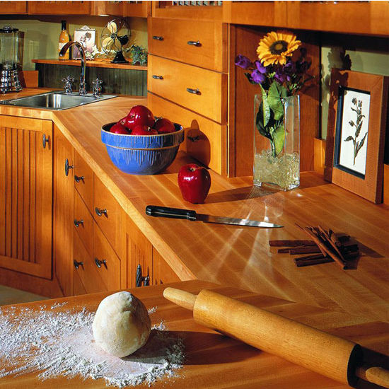 Maple Kitchen Countertops: Hard Rock Maple 25'' Deep