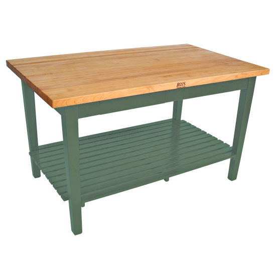 Kitchen Islands Classic Country Work Table With 2