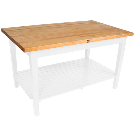 "John Boos Classic Country Work Table with Shelf, 36"" Deep"