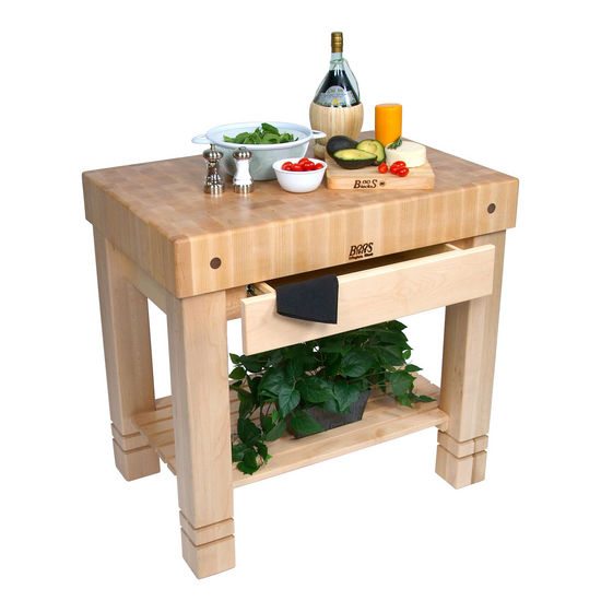 Kitchen Islands Kitchen Work Table Homestead Block With End Grain Butcher Block Shelf And