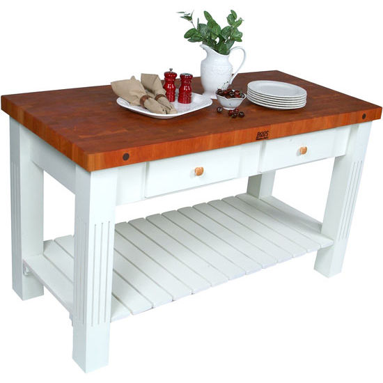 John Boos Grazzi Kitchen Island With Cherry End Grain Top
