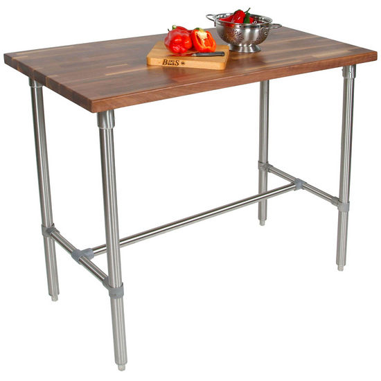Walnut Butcher Block Top Cucina Classico Kitchen Island by John Boos