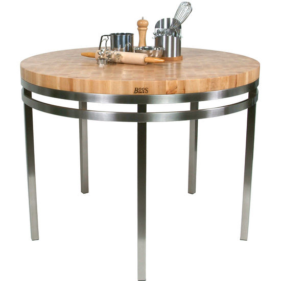 Metro Oasis Round Kitchen Island Table
