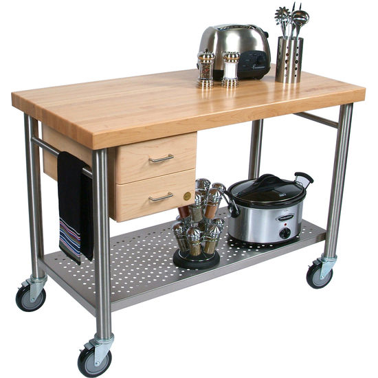 John Boos Cucina Magnifico Quot Kitchen Cart With Dovetailed