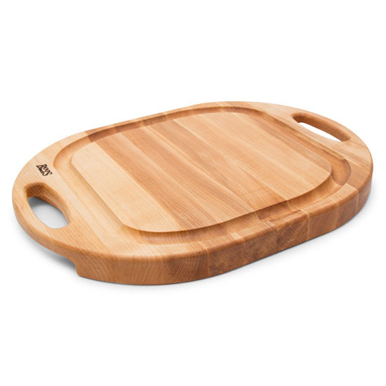 john boos oval chopnserve cutting board with groove u0026 handle northern - Boos Cutting Board