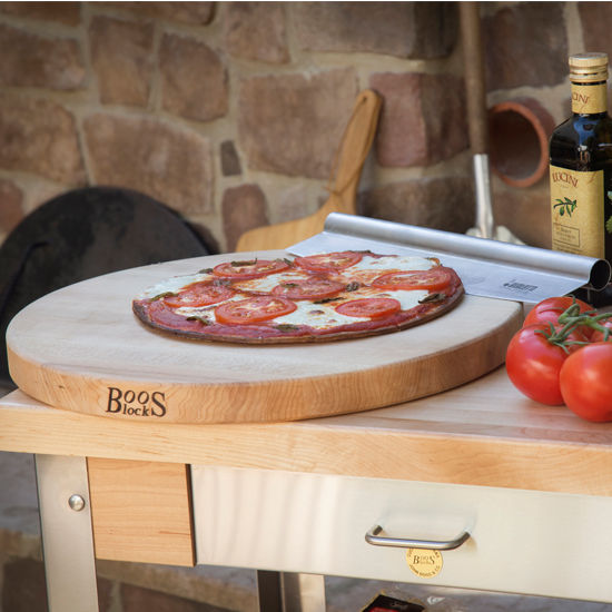 John Boos R-Board Collection Reversible 18'' Diameter Maple Cutting Board
