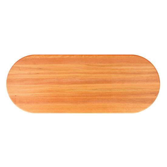 John Boos Cherry Butcher Block Table Top, Oval