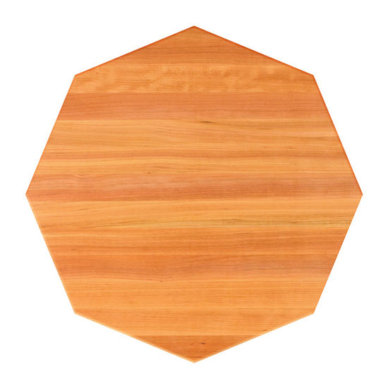 John Boos Cherry Butcher Block Table Top, Octagonal