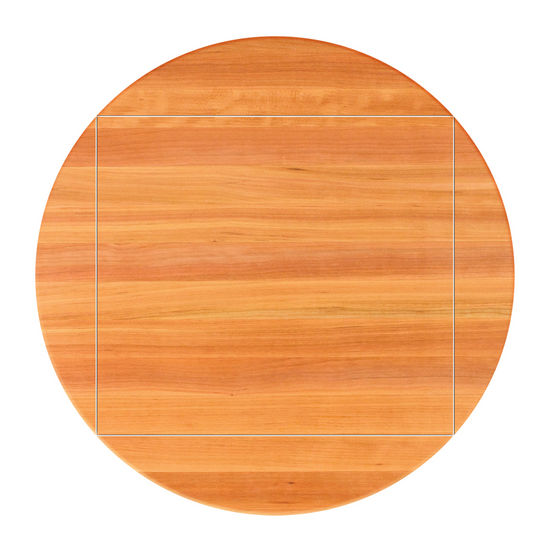 John Boos Cherry Butcher Block Table Top, Four Corner Drop Leaf
