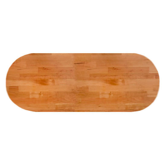 John Boos Cherry Blended Butcher Block Table Top, Oval