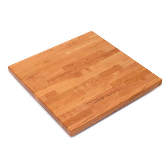 John Boos Cherry Blended Butcher Block Table Top, Square