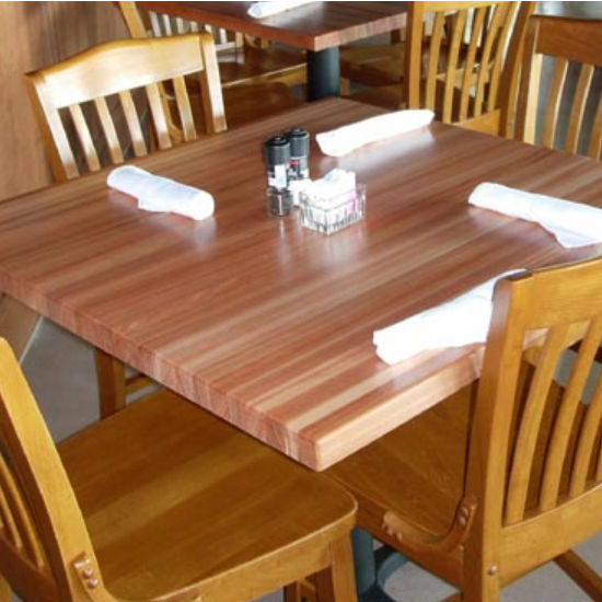 Table Tops - Square Hard Maple Butcher Block Table Top by John Boos | KitchenSource.com