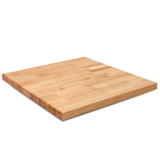 "John Boos Maple Blended Butcher Block Table Top, Rectangular, 30""D"