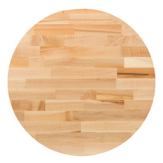 table tops hard maple blended butcher block table top round with jointed edge grain. Black Bedroom Furniture Sets. Home Design Ideas