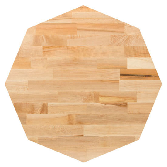 John Boos Maple Blended Butcher Block Table Top, Octagonal