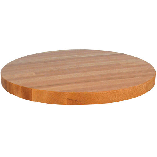 Round Red Oak Butcher Block Table Tops By John Boos